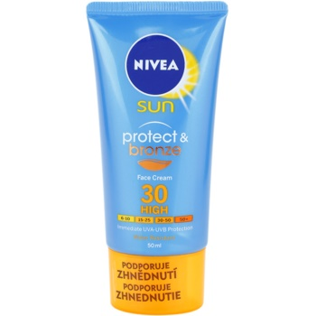 Nivea Sun Protect & Bronze crema abbronzante intensa viso SPF 30 (Sun Cream) 50 ml