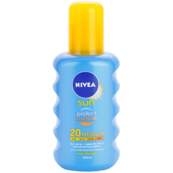 Nivea Sun Protect & Bronze spray abbronzante intenso SPF 20 (Sun Spray) 200 ml