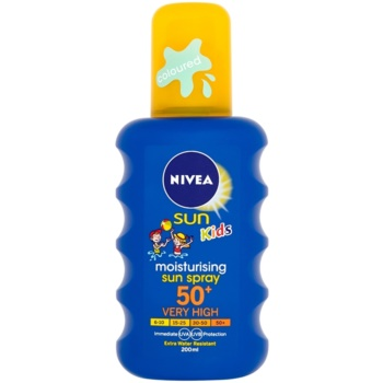 Nivea Sun Kids spray colorato abbronzante per bambini SPF 50+ (Sun Spray) 200 ml