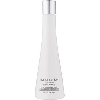 No Inhibition Smoothing shampoo rigenerante alla cheratina contro i capelli crespi senza sulfati né parabeni (Re-Filler Shampoo with Organic Maracuja Oil) 250 ml