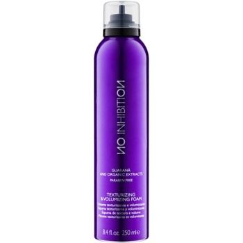 No Inhibition Styling schiuma per capelli volumizzante e modellante senza parabeni Texturizing & Volumizing Foam (Guarana and Organic Extracts) 250 ml