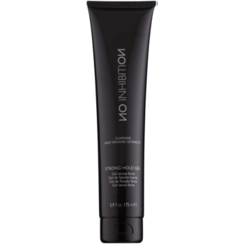No Inhibition Styling gel per capelli fissante forte Strong Hold Gel (Guaraná and Organic Extracts) 175 ml