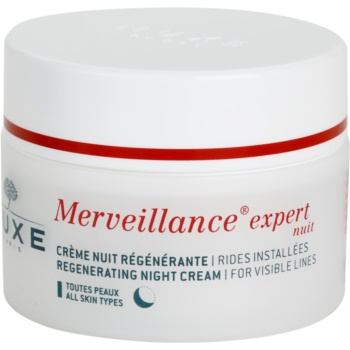 Nuxe Merveillance crema notte rigenerante per tutti i tipi di pelle (Regenerating Night Cream For Visible Lines) 50 ml