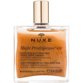 Nuxe Huile Prodigieuse OR olio secco multifunzione con glitter per viso, corpo e capelli (With Precious Botanical Oils, Mineral Oils Free, Silicone Free) 50 ml