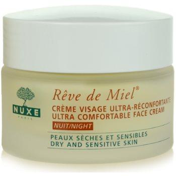 Nuxe Reve de Miel crema notte nutriente e idratante per pelli secche (Ultra Comfortable Face Cream) 50 ml