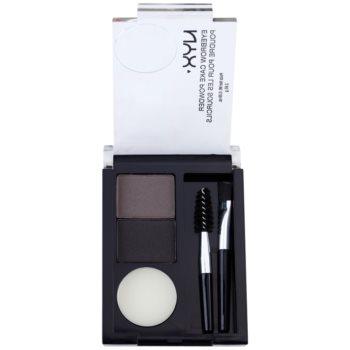 NYX Professional Makeup Eyebrow Cake Powder kit per sopracciglia perfette colore 01 Black/Gray 2,65 g