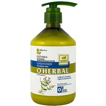 O'Herbal Mentha Piperita balsamo per capelli grassi (Light and Fresh Hair) 500 ml