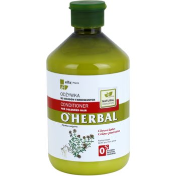 O'Herbal Thymus Vulgaris balsamo per capelli tinti (Gives Your Hair Shine) 500 ml