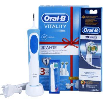 Oral B Vitality 3D White D12.513W spazzolino da denti elettrico (+ 2 Brush Heads 3D White)  pz