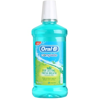 Oral B Complete collutorio antiplacca per gengive sane aroma Fresh Mint (For Lasting Fresh Breath Alcohol Free) 500 ml