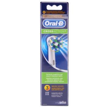 Oral B Cross Action EB 50 testina di ricambio (Replacement Brush Head) 3 pz