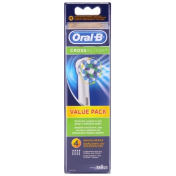 Oral B Cross Action EB 50 testina di ricambio (Replacement Brush Head) 4 pz