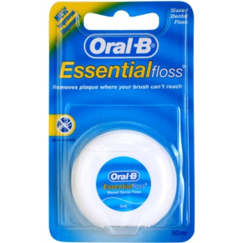 Oral B Essential Floss filo interdentale cerato (Waxed Dental Floss) 50 m