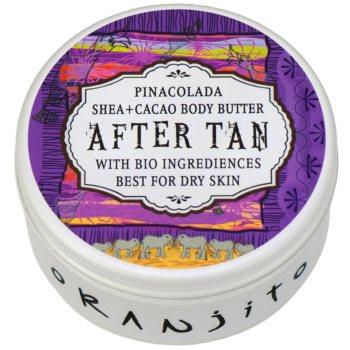 Oranjito After Tan Bio Pinacolada burro corpo doposole (Shea + Cacao Body Butter) 100 g