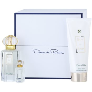 Oscar de la Renta Live in Love kit regalo I eau de parfum 50 ml + 4 ml + latte corpo 100 ml