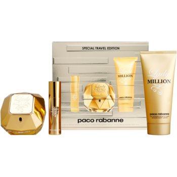 Paco Rabanne Lady Million kit regalo eau de parfum 80 ml + latte corpo 100 ml + eau de parfum 10 ml