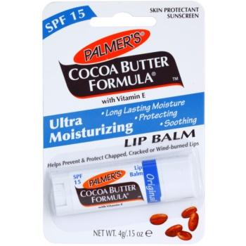 Palmer's Face & Lip Cocoa Butter Formula balsamo idratante labbra SPF 15 aroma Original Cocoa Butter (Long Lasting Moisture, Protecting, Soothing with Vitamin E) 4 g