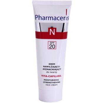 Pharmaceris N-Neocapillaries Vita-Capilaril crema idratante e rinforzante viso per pelli sensibili con tendenza all'arrossamento SPF 20 50 ml