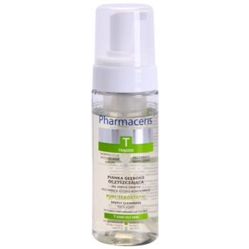 Pharmaceris T-Zone Oily Skin Puri-Sebostatic mousse detergente per pelli secche e irritate dal trattamento antiacne (Restores Hydro-Balance of the Skin) 150 ml