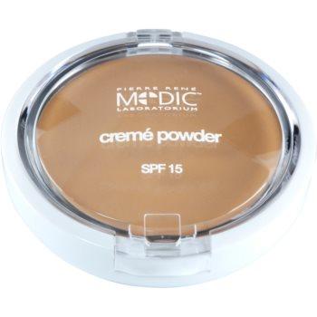 Pierre René Medic Laboratorium cipria in crema con specchietto e applicatore SPF 15 colore 01 Porcelain (Waterproof) 7 g
