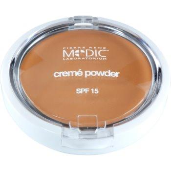 Pierre René Medic Laboratorium cipria in crema con specchietto e applicatore SPF 15 colore 02 Light Beige (Waterproof) 7 g