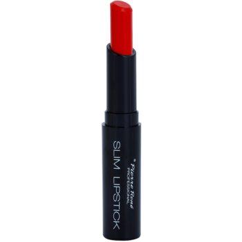 Pierre René Slim Lipstick Rich rossetto lunga tenuta colore 28 Atomic Red (Highly-Pigmented Formula) 2 g