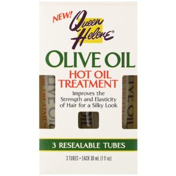 Queen Helene Olive Oil impacco per capelli per capelli brillanti e morbidi (Hot Oil Treatment) 3 x 30 ml