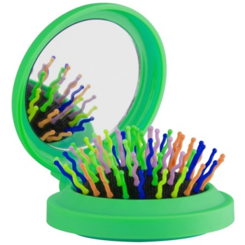 Rainbow Brush Pocket spazzola per capelli con specchietto Green