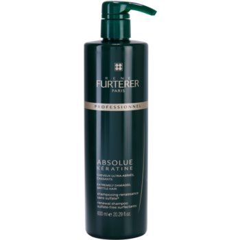 Rene Furterer Absolue Kératine shampoo rigenerante per capelli molto rovinati (Sulfate-Free Surfactants) 600 ml