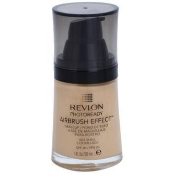 Revlon Cosmetics Photoready Airbrush Effect™ fondotinta liquido SPF 20 colore 003 Shell 30 ml