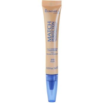 Rimmel Match Perfection correttore illuminante colore 010 Ivory 7 ml