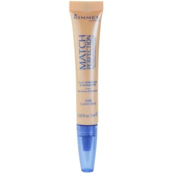 Rimmel Match Perfection correttore illuminante colore 030 Classic Beige 7 ml