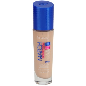 Rimmel Match Perfection fondotinta liquido SPF 20 colore 010 Ligh Porcelain 30 ml