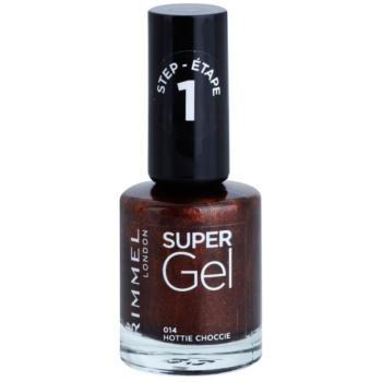 Rimmel Super Gel Step 1 smalto gel per unghie senza lampada UV/LED colore 014 Hottie Choccie 12 ml
