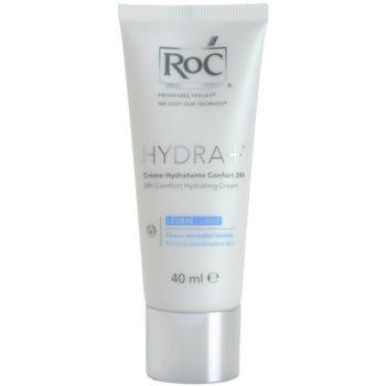 RoC Hydra+ crema idratante per pelli normali e miste (24h Comfort Hydrating Cream – Light) 40 ml
