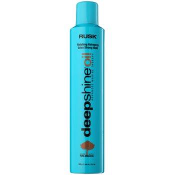 Rusk Deep Shine Oil spray per capelli ad asciugatura rapida per fissare e modellare (With Argan Oil) 300 g