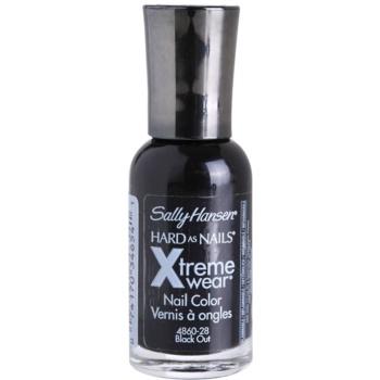 Sally Hansen Hard As Nails Xtreme Wear smalto per unghie rinforzante colore 370 Black Out 11,8 ml