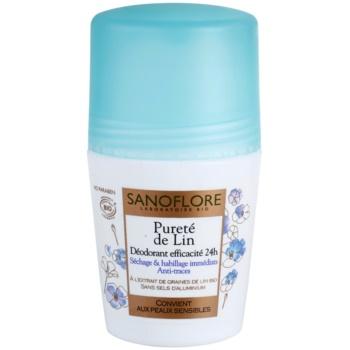 Sanoflore Déodorant deodorante roll-on senza alluminio 24 ore 50 ml