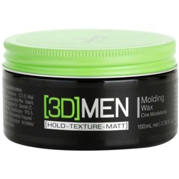 Schwarzkopf Professional [3D] MEN cera per capelli (Molding Wax) 100 ml