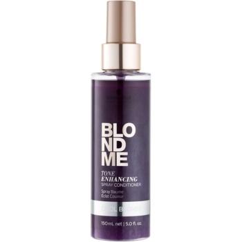 Schwarzkopf Professional Blondme balsamo senza risciacquo per sfumature biondo freddo Tone Enhancing Spray Conditioner (Cool Blondes) 150 ml