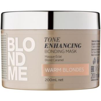 Schwarzkopf Professional Blondme maschera nutriente per sfumature biondo caldo (Tone Enhancing Bonding Mask) 200 ml