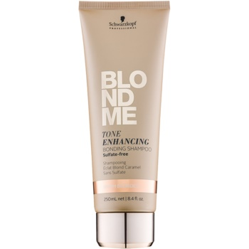 Schwarzkopf Professional Blondme shampoo senza solfati per sfumature biondo caldo (Tone Enhancing Bonding Shampoo) 250 ml