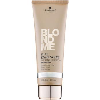 Schwarzkopf Professional Blondme shampoo senza solfati per sfumature biondo freddo (Tone Enhancing Bonding Shampoo) 250 ml