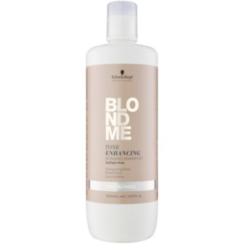 Schwarzkopf Professional Blondme shampoo senza solfati per sfumature biondo freddo (Tone Enhancing Bonding Shampoo) 1000 ml