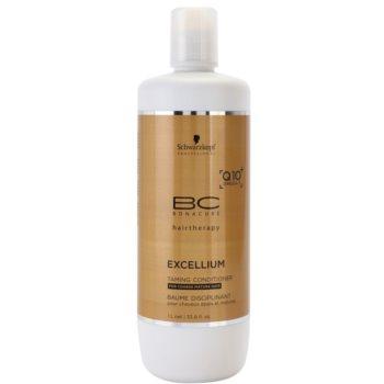 Schwarzkopf Professional BC Bonacure Excellium Taming balsamo per capelli grossi e maturi (Exclusive Age-Defying Formula Combining Q10+ and Omega 3) 1000 ml