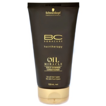 Schwarzkopf Professional BC Bonacure Oil Miracle Argan Oil balsamo per tutti i tipi di capelli (Gold Shimmer Conditioner) 150 ml