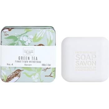 Scottish Fine Soaps Green Tea sapone di lusso in contenitore di metallo 100 g