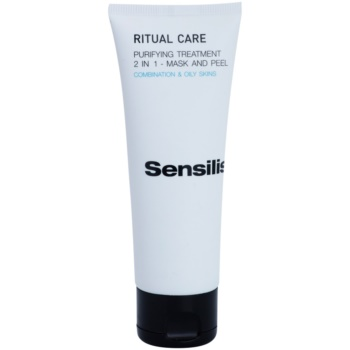 Sensilis Ritual Care maschera e scrub detergenti 2 in 1 (Purifying Treatment 2 in 1 - Mask and Peel) 75 ml