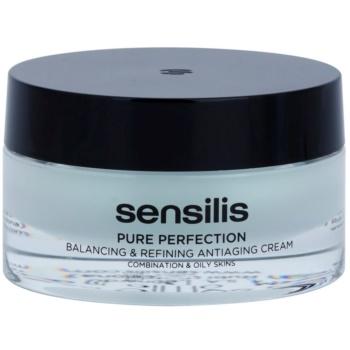 Sensilis Pure Perfection crema normalizzante per pelli grasse effetto antirughe (Balancing & Refining Antiaging Cream) 50 ml