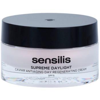Sensilis Supreme Daylight crema rigenerante antirughe SPF 15 (Caviar Antiaging Day Regenerative Cream) 50 ml